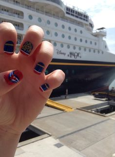 """horrible """"claw"""" pic and not into the polish, but i definitely need to do this with my Jamberry nails on my cruise!"""