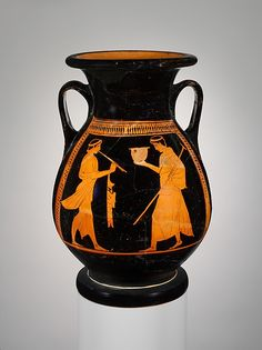 Komos (revel). Obverse, flute-player and youth with skyphos<br/>Reverse, two youths<br/><br/>The young men are the same Athenian citizens who participated in the Panathenaic games. For an understanding of Attic vases, it is important to recognize that the shapes, their functions, and their decoration had a well-defined place in Athenian life