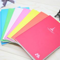 3071 South Korea stationery candy color Paris tieta notebook diary book wholesale notebook protection 4pcs/set mixed color