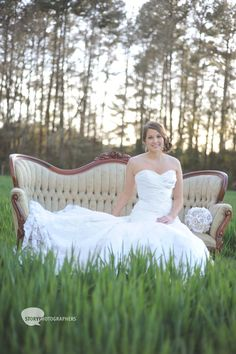 bridal portrait idea, vintage rentals are where its at!