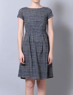check print tee dress