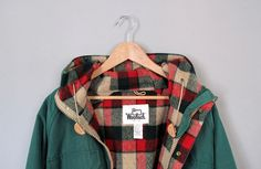parka/plaid/color combo