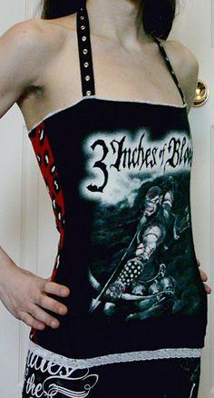 3 Inches of Blood Halter Top DIY Shirt OoAk by DarkStormClothing, $24.00