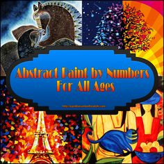 Abstract Paint by Numbers Kits for All Ages http://paintbynumberforadults.com/abstract-paint-by-numbers-kits-for-all-ages/