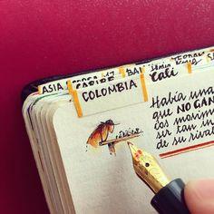 Handmade Traveler's Notebook by José Naranja Art Journal Inspiration, Journal Ideas, His Travel, Travel Journals, Art Journals, Bullet Journals, Personalized Notebook, Memory Journal, Book Journal