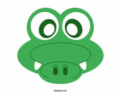 Crocodile mask templates including a coloring page version of the mask. Free printable PDF at http://maskspot.com/download/crocodile-mask/