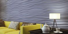 See what your gypsum wall panels and textured gypsum tiles will look like after installation at We have a wide variety of installation examples to choose from, including designs such as Ex-Machina, Force, Breeze and more. Rock Panel, Panneau Mural 3d, 3d Wall Panels, Decoration Originale, Ex Machina, Gypsum, Hard Rock, Foyer, Tiles