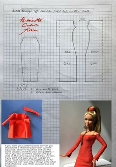 Sewing Barbie Clothes, Barbie Sewing Patterns, Doll Dress Patterns, Clothing Patterns, Poupées Our Generation, Made To Move Barbie, Barbie Mode, Crochet Doll Dress, Barbie Dress