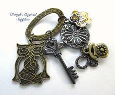 Embellishments for Jewelry /& Scrapbooks 6pc BeachTheme Antique Brass Charm Set