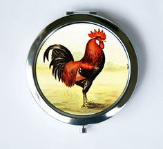 Rooster chicken Compact Mirror Pocket Mirror Makeup by che655