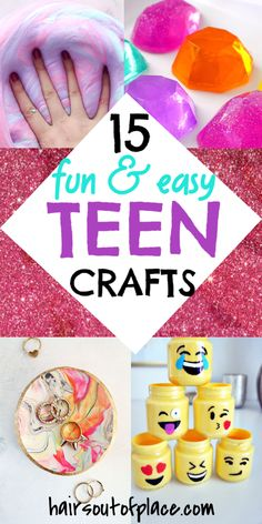 Easy Crafts for Teens & Kids Finding fun crafts for teens isn't . - Easy Crafts for Teens & Kids Finding fun crafts for teens isn't always easy, but ma - Easy Crafts For Teens, Fun Diy Crafts, Diy For Kids, Kids Fun, At Home Crafts For Kids, Fun And Easy Diys, Diy Crafts Easy At Home, Cool Crafts For Kids, Teen Fun