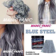 manic panic grey  steel blue hair dye .. I think i will try it soon ...