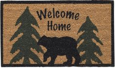 Check out the deal on Welcome Home Black Bear Doormat at Primitive Home Decors