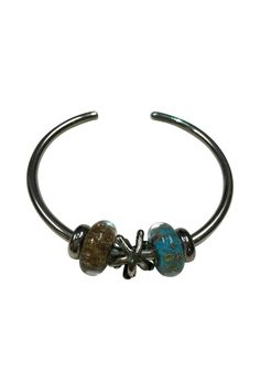 Our Deep Sea Bangle is specifically curated by our staff. This Sterling Silver bangle contains three beautiful beads and two sterling silver stoppers.   Deep Sea Bangle Accessories - Jewelry - Bracelets Virginia