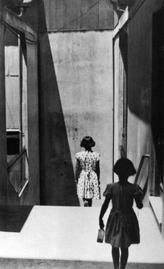 #Sergio Larrain #black and white #photography she followed her doppleganger, frightened though she was, afraid that when they finally met, face to face, only one would be left standing