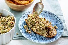 Italian Tuna Salad — The Mom 100 Tuna Fish Sandwich, Italian Tuna, Olive Spread, New Recipes, Favorite Recipes, Spinach Leaves, Tuna Salad, A Food, Food Processor Recipes
