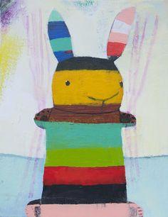 Striped Bunny #11 - kids room