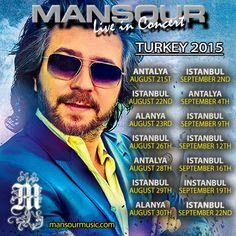Mansour Live in Concert Turkey August-September 2015