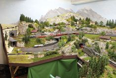 Train Layouts, Model Trains, Scale Models, Planer, Scenery, Mountains, Travel, Mockup, Dioramas