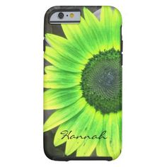 Green and Yellow Sunflower iPhone 6 case