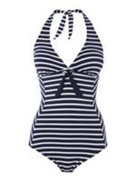 Look what I found at House of Fraser Navy Houses, Striped Swimsuit, House Of Fraser, Swimsuits, Swimwear, Tankini, One Piece, My Style, Summer