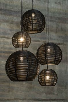 SANGHA DARK / design / lighting / darling / rattan #DARK colors black