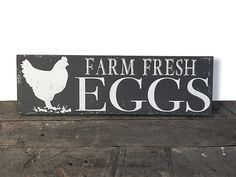 Farm Fresh Eggs - Farmhouse Kitchen - Farmhouse Decor - Rustic Decor - Rustic…