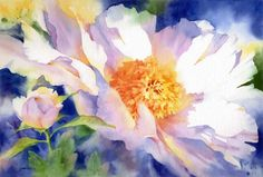 Mom could paint like this. Water colors were her chosen medium and she was really good! Luckily, my house is full of her beautiful paintings (mkc). Via Doni Hall: subtiles couleurs