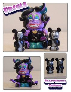 Two Ursula Custom Vinylmations by Josh Edwards