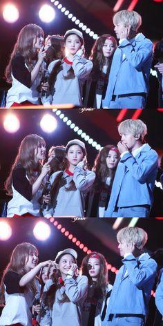 Wendy, Yeri, and Baekhyun. Exo Red Velvet, Wendy Red Velvet, Kpop Couples, Cute Couples, Korean Celebrities, Korean Actors, Jonghyun, Shinee, Baekhyun