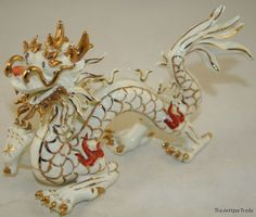 Antique Chinese 1796 Chia Ching Imperial 5claw porcelain dragon