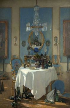 A Chateau in France,1914 by Patrick William Adam           love this formality..