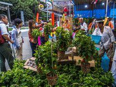 Asakusa Hoozuki Ichi 12/20 The Hoozuki Ichi yatai stalls continue up to Asakusa Jinja -you can see a small part of its torri gate in the upper left corner #Asakusa, #Jinja, #hoozuki  July 10, 2014. © Grigoris A. Miliaresis