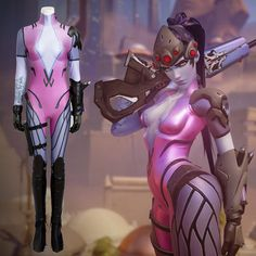 Ow Overwatch Emily Widowmaker Cosplay Costumes Full Set
