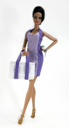 Sundress and beach tote for Barbie Silkstone Fashion Royalty