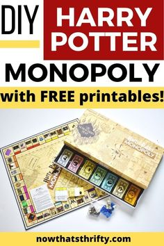 Create your DIY Harry Potter Monopoly Game with our step by step tutorial and FREE printables. Make this game for any Harry Potter lover! Monopoly Harry Potter, Cadeau Harry Potter, Harry Potter Free, Harry Potter Games, Harry Potter Printables, Anniversaire Harry Potter, Harry Potter Wizard, Monopoly Game, Harry Potter Halloween