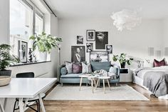Here are the Swedish Home Decoration Ideas. This post about Swedish Home Decoration Ideas was posted under the Home Design … Studio Apartment Design, Studio Apartment Decorating, Decorating Your Home, Tiny Studio Apartments, Decorating Ideas, Swedish Home Decor, Unique Home Decor, Deco Studio, Small Room Design
