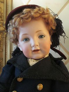 Antique Bisque German Early Kestner 220 Toddler Body 25 in Orig Wig | eBay