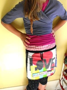 upcycled tshirt skirt