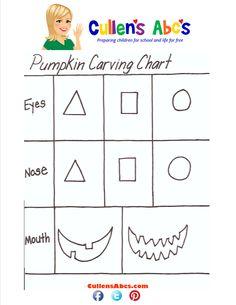 Pumpkin Carving Chart | Art Pattern | Cullen's Abc's www.cullensabcs ...