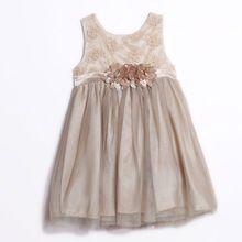 Baby Meisje Vest Trouwjurk 2017 voor kids Kleding Katoen Mesh Prinses Vestidos Bloemen Party Pageant Communie Jurk INS(China (Mainland))