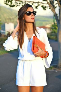Marilyn's Closet - FASHION BLOG: White Playsuit by IvyRevel