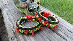 Zombie Paracord Survival Bracelet. Hey, I found this really awesome Etsy listing at https://www.etsy.com/listing/204128845/zombie-paracord-survival-bracelet