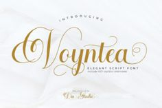 Voyntea feels incredibly elegant and flowing. It looks stunning on wedding invitations, thank you cards, quotes, greeting cards, logos, business... Handwritten Script Font, Calligraphy Fonts, Typography Fonts, Modern Calligraphy, Lettering Art, Typography Design, Modern Typeface, Modern Fonts, Beautiful Calligraphy
