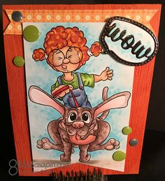 She is absolutely adorable and she was so much fun to color I was even lucky enough to have a coloring side… Dog Walking, I Card, Invitations, Crystals, Dogs, Fun, Handmade, Humor, Hand Made