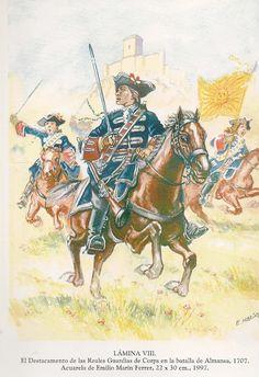 Guardias de Corps. Compañía Española 1707