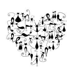 chat / coeur <3