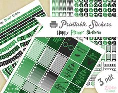 Printable stickers Harry Potter Slytherin by Lateliercreatif06