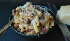 Pasta with Braised Pork, Red Wine & Pancetta - I will never take the time to make this, but it still looks good.  Inspiration jump