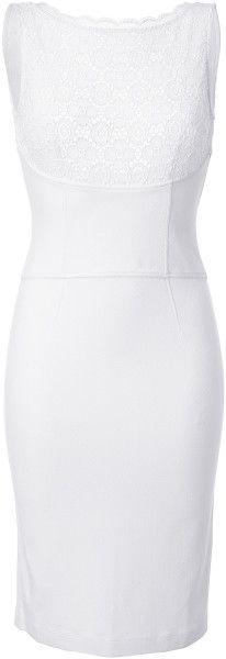 Blumarine White White Laced Dress